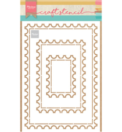 Marianne Design-Craft Stencil-Post card-PS8034