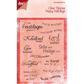 Joy!Crafts Kerst tekst (NED) 6410/0111