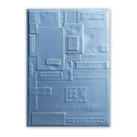 Sizzix 3-D Embossing Folder - Rivets 662717 -Tim Holtz