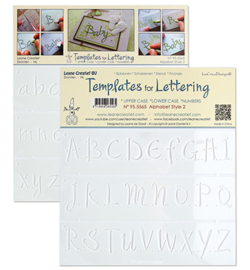 Leane Creatief 955565 - Alphabet style 2, Upper case+ Lower case+Numbers