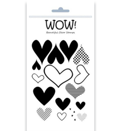 WOW!- stempels  - Layered Hearts - STAMPSET40