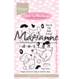 Marianne Design-Clear Stamp Eline's cute animals – puppies-EC0177
