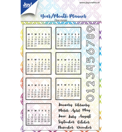Joy!Crafts-Clearstempel -Jaar/maandplanner-6410/0495