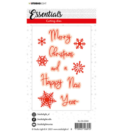 Studio Light - Snijmal Essentials - Christmas merry engels - SL-ES-CD60