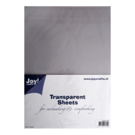 Joy! Crafts - Transparant Sheets A4, 5 vel (mica)