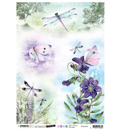 Studio Light-  Rice Paper- Time to relax 2.0 - butterflies&dragonflies - nr 36 - RICEJMA36