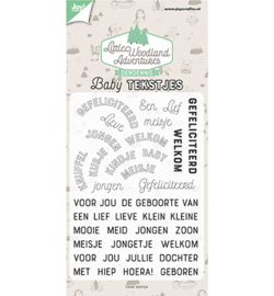 Joy!Crafts 6410/0514 Clearstempel - LWA - Babytekstjes