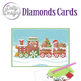 Diamonds Cards - Dotty Designs - Christmas train - DDDC1009