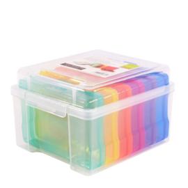 Vaessen creative- opbergdoos met 6 doosjes - gekleurd