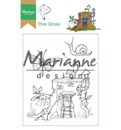 Marianne Design HT1642 Clear Stamp Hetty's Tree house