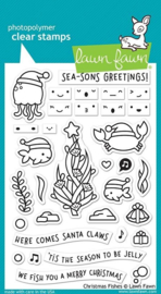 Lawn Fawn -clear stempel- Christmas Fishes - LF2024