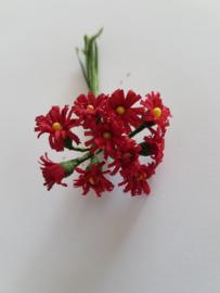 bosje met 10 rode bloemen