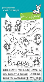 Lawn Fawn-clear stempel- Mice on Ice - (LF2031)