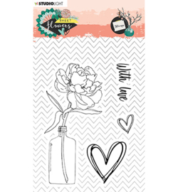 Studio Light - stempel  - Stamp, Sweet Flowers nr.436 - STAMPSFL436