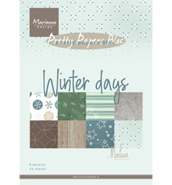Marianne Design - Papierblok - Winter days - PK9164