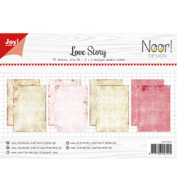 Joy!Crafts 6011/0600 Papierset - Noor - Design Love Story
