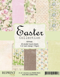 Reprint - papierblok 15,2 cm bij 15,2 cm - Easter Collection -RPP048