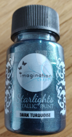 Imagination crafts - starlight verf - dark turquoise