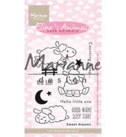 EC0175 Clear Stamp Eline's Cute Animals - Sheep