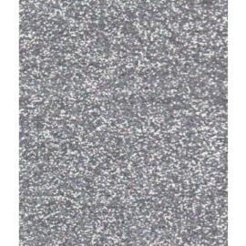 Glitterpapier - zilver - 5 stuks A5