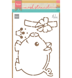 Marianne Design PS8027 Craft stencils - Piggybank by Marleen