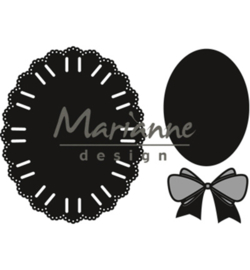CR1458 Marianne Design Craftable Oval ribbon die