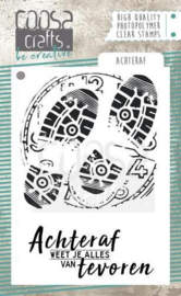 COOSA Crafts clearstamps A7-Achteraf (NL) COC-056