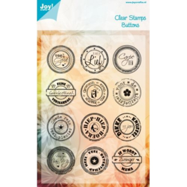 Joy!Crafts buttons clear stamps 6410/0039