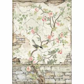 Stamperia - Rice Paper A4 - Little Bird on Branch - (DFSA4446)
