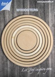 Joy!crafts - Woodsters - Deco- schudkaart rond