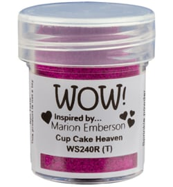 Wow! - embossingpoeder - cup cake heaven - WS24OR