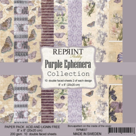 Reprint Hobby - paperpad- Purple Ephemera