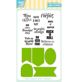 Joy! Crafts - Snijmal - Jocelijne - Labels/Tekst - 6004/0037
