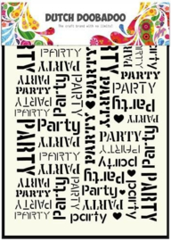 Dutch Doobadoo Dutch- Mask Art stencil- party tekst achtergr-.A5 470.715.039