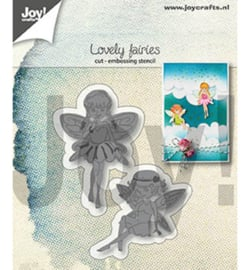 Joy! Crafts-Embos en snijmal- Lovely fairies-6002/1306