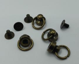 Metalen pin - brons - 4 stuks