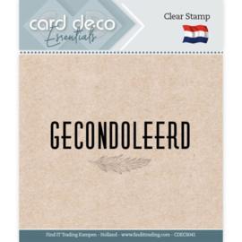Card deco - stempel - gecondoleerd - CDEC S041