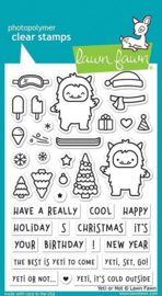 Lawn Fawn -clear stempel- Yeti or Not -(LF2027)