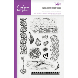 Crafter's Companion - Clearstamp - Vintage Accents - CC-ST-CA-VINAC