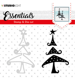 studio Light-  snijmal en stempel- Essentials Christmas Silhouettes no. 36- BASICSDC36