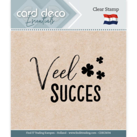 Card deco - stempel - veel succes - CDEC S034