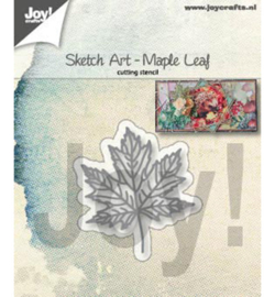 Joy! Crafts - Snijmal -  Sketch Art - Esdoorn blad - 6002/1355