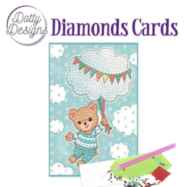 Diamonds Cards - Dotty Designs - blue baby bear - DDDC1011