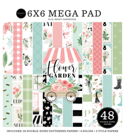CartBella- mega pad  15 bij 15 cm - Flower Garden - CBGA130031