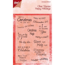 Joy!Crafts Tekst kerst (ENG) 6410/0112