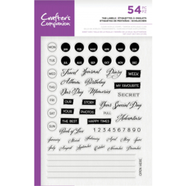 Crafter's Companion - Clearstamp - Tab Labels - CC-ST-CA-TLAB