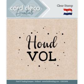 Card deco - stempel - houd vol - CDEC S039