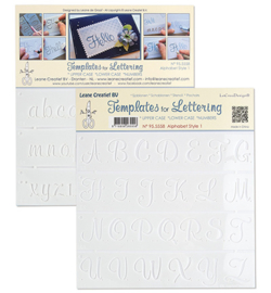 Leane Creatief 955558 - Alphabet style 1, Upper case+ Lower case