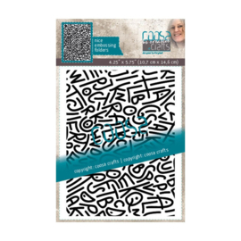 COOSA Crafts - Embossing folder - Spagletti - COC-083