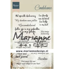 Marianne Design-Clear Stamps Condoleance- CS1041